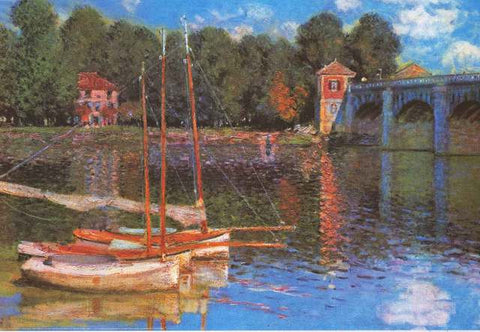 Claude Monet Argenteuil Bridge Poster