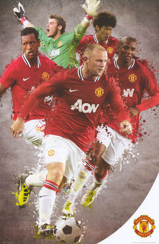 Manchester United FC Team All-Stars Poster