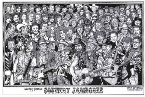 Country Jamboree Howard Teman Poster