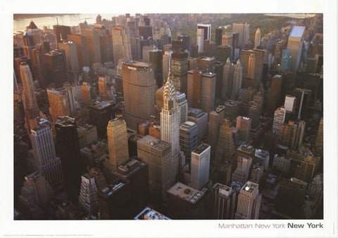 MANHATTAN FROM ABOVE NEW YORK NYC 24x34 POSTER