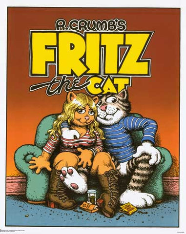Robert Crumb Fritz the Cat Poster