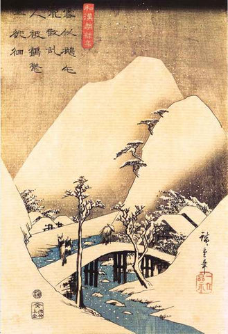 Hiroshige Snowy Landscape Poster