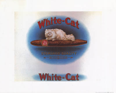 WHITE CAT CIGAR STORE ART 16x20 POSTER