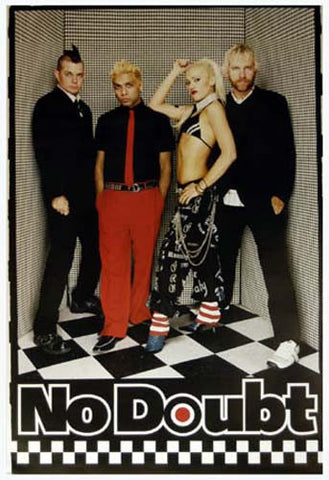 No Doubt Group Checkers Gwen Stefani 24x34 Poster