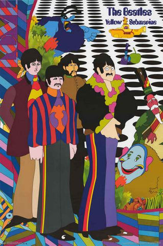 The Beatles Yellow Submarine Movie Poster