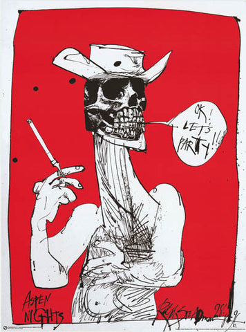 Ralph Steadman Let's Party Poster