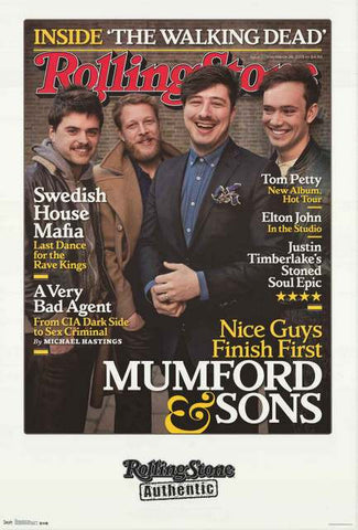 Mumford and Sons Rolling Stone Magazine Poster