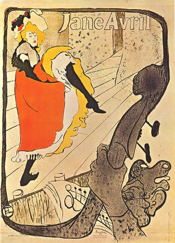 Toulouse-Lautrec Jane Avril Poster