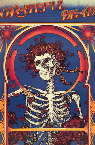 Grateful Dead Skeleton & Roses 22x33 Poster