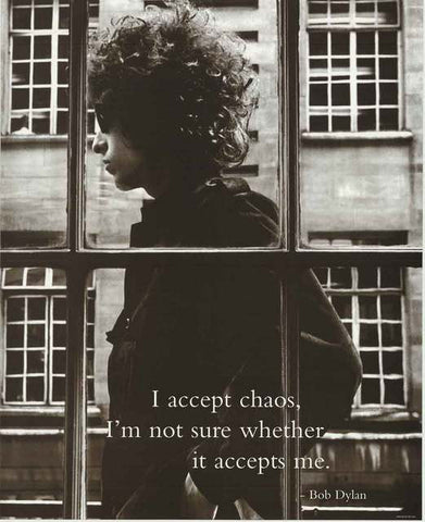 Bob Dylan Quote Poster