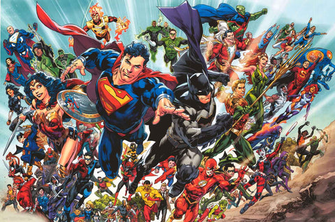 DC Comics Rebirth Superheroes Poster
