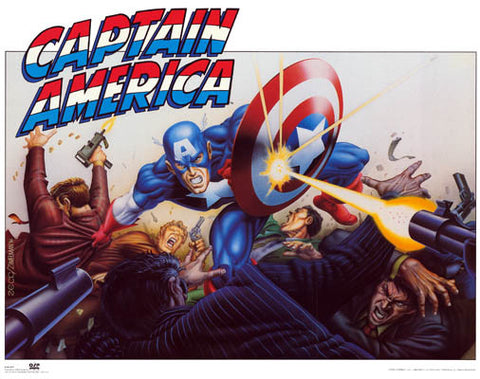 Captain America Marvel Comics Poster