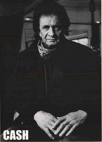 Johnny Cash Man In Black Portrait Poster 24x33