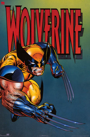 Wolverine X-Men Action Pose Orig 1994 24x35 Poster