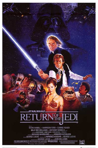 STAR WARS RETURN OF THE JEDI MOVIE 24x36 POSTER