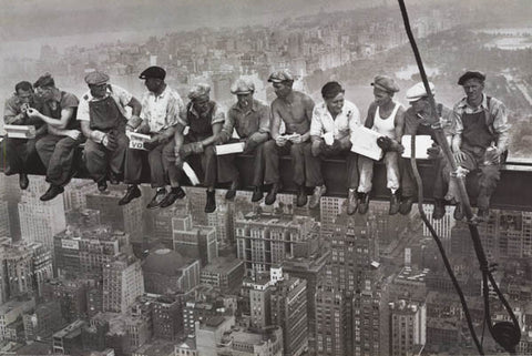 MEN ON BEAM 1932 ROCKEFELLER CENTER B&W 24X36 POSTER
