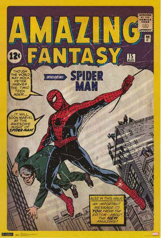 Spider-man Amazing Fantasy Comics Poster