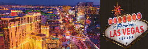 Las Vegas Welcome to the Fabulous Strip 12x36 Poster