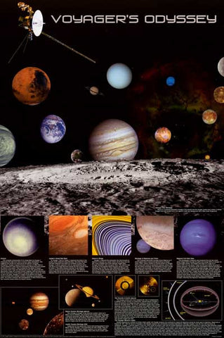 NASA Voyager Space Probe Poster