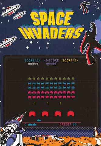 Space Invaders Video Game Poster