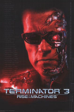 Terminator 3 Rise of the Machines 2003 23x34 Poster
