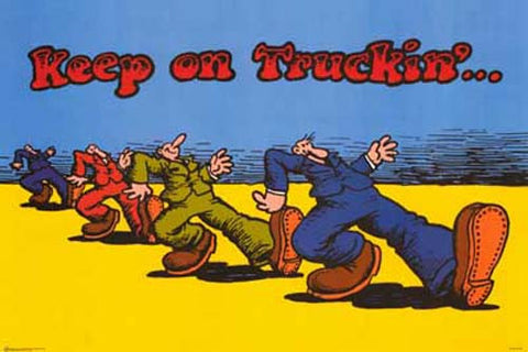 R Crumb Keep on Truckin' Comic Art 24x36 Poster