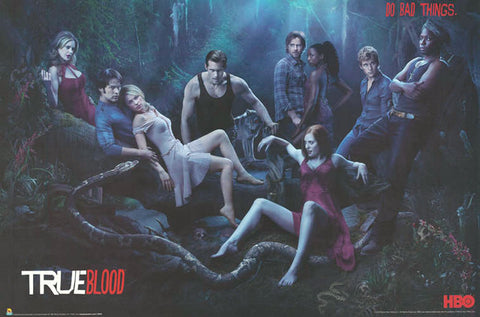 True Blood Vampires Cast in Woods 24x36 Poster