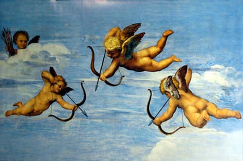 Triumph of Galatea Cupid Detail Raphael Fresco Art Poster 24x36