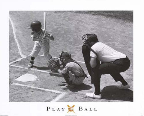 Little League Baseball Players Poster