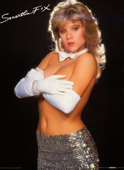 Samantha Fox Sexy In Sequins Orig 1988 20x28 Poster on Educational Stuff For Kids