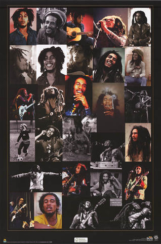 Bob Marley Rasta Reminiscences Collage 24x36 Poster