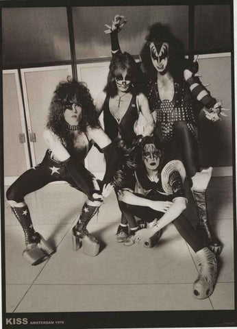 KISS Amsterdam 1976 Band Portrait Poster 24x33