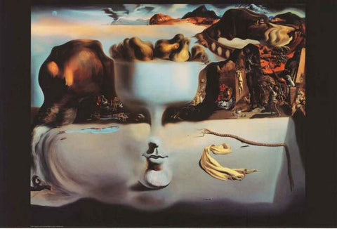 Salvador Dali Apparition of Face and Fruit Dish Poster