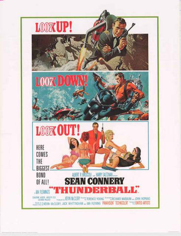 James Bond Thunderball Movie Poster