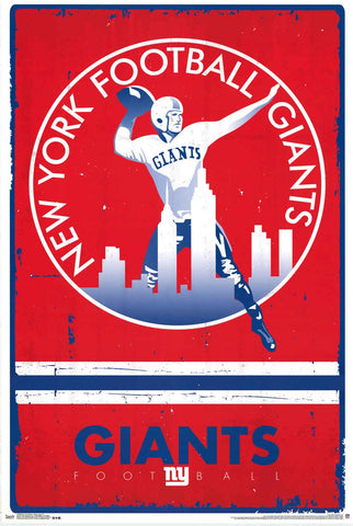 New York Giants NFL Poster
