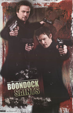 Boondock Saints Dual Pistols Collage 22x34 Poster