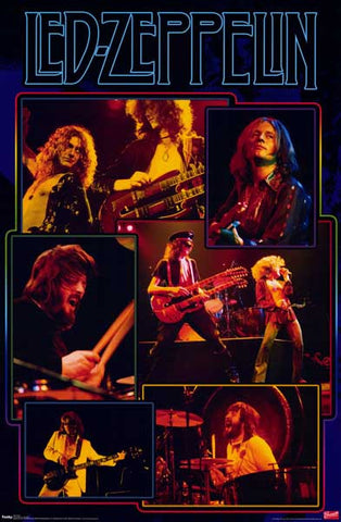Led Zeppelin 6 Live Pics Page & Plant 22x34 Poster
