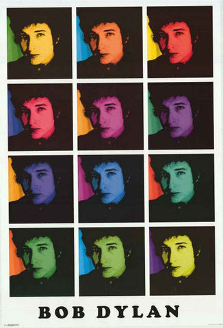 Bob Dylan Pop Art Poster