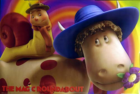MAGIC ROUNDABOUT BRIAN ERMINTRUDE 24x36 POSTER