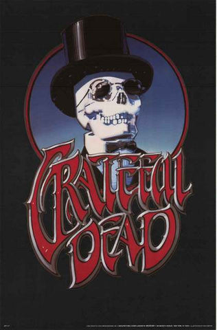 Grateful Dead Skeleton Tophat Poster