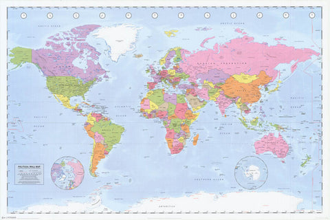 Education posters tagged maps bananaroad political world map poster gumiabroncs Image collections