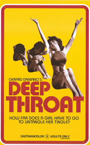 Deep Throat Untangle Her Tingle Film Art 22x35 Poster
