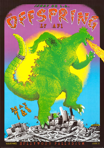 The Offspring 1997 Concert Poster 24x34