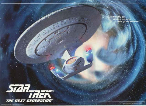 Star Trek Next Generation USS Enterprise Poster