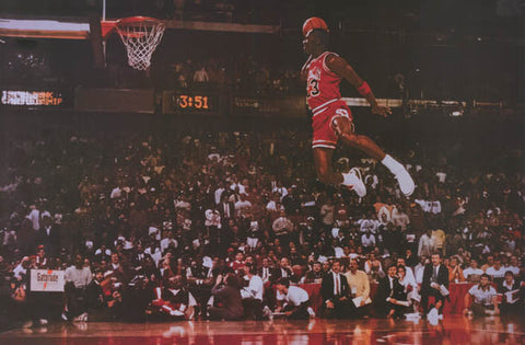 Michael Jordan Basketball Poster