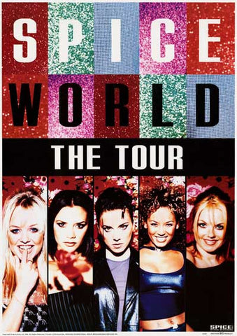 Spice Girls SpiceWorld Tour Poster