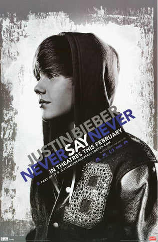 Justin Bieber Never Say Never Film Art 22x34 Poster