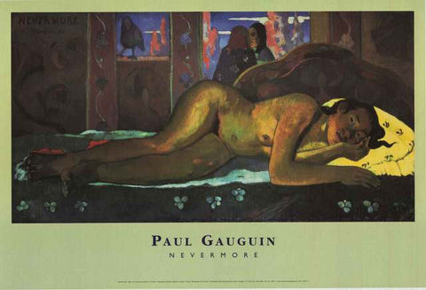 Paul Gauguin Nevermore Poster