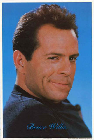 Bruce Willis Portrait Poster