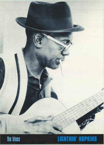 Lightnin' Hopkins Blues Guitar Poster